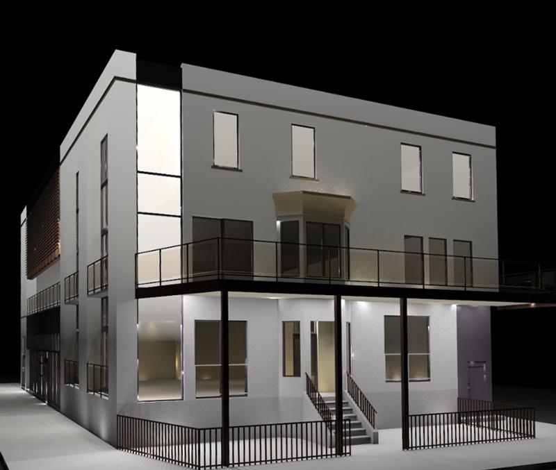 Crescent Street New Building Façade